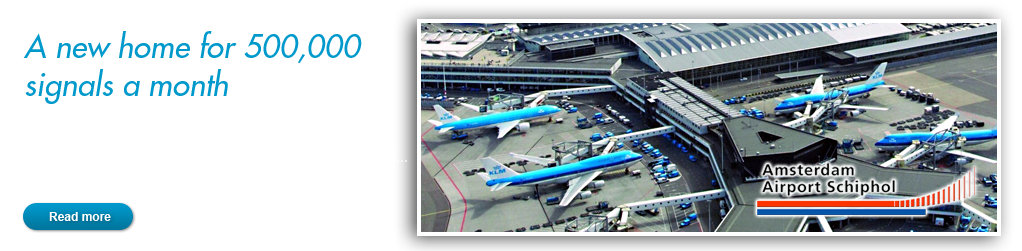 Schiphol: A new home for 500,000 signals a month